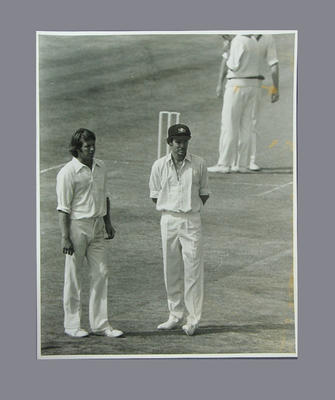 Photograph of Jeff Thomson & Greg Chappell, 1975
