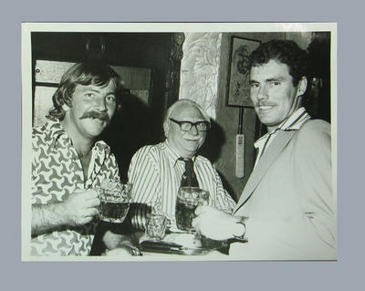 Photograph of Rod Marsh & Greg Chappell drinking in a pub, England - 1972