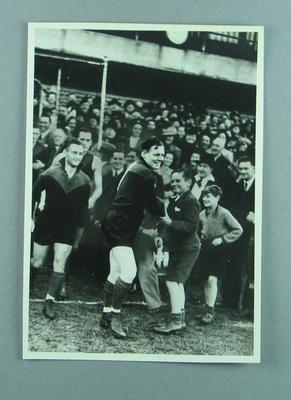 Photograph of Ambrose Palmer playing for Footscray FC, c1930s; Photography; 1989.2133.2