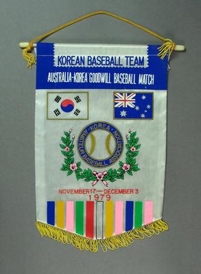 Pennant, Australia- Korea Goodwill Baseball Match - 1979