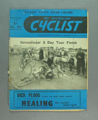 "Magazine, ""The Australian Cyclist"" Aug 1959"