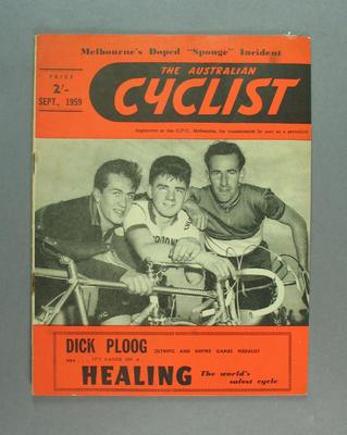 "Magazine, ""The Australian Cyclist"" Sept 1959"