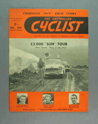 "Magazine, ""The Australian Cyclist"" Nov 1959"