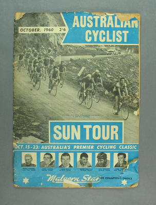 "Magazine, ""The Australian Cyclist"" Oct 1960"