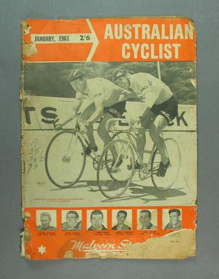 "Magazine, ""The Australian Cyclist"" Jan 1961"