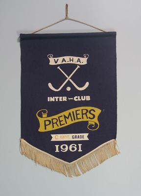 Pennant won by MCC Hockey Section, VAHA Inter-Club C Grade Premiers 1961