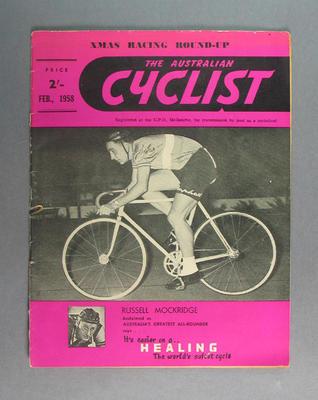 "Magazine, ""The Australian Cyclist"" Feb 1958"