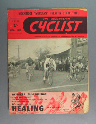 "Magazine, ""The Australian Cyclist"" Aug 1958"