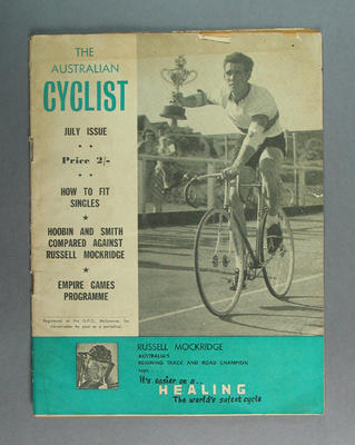 "Magazine, ""The Australian Cyclist"" Jul 1958"