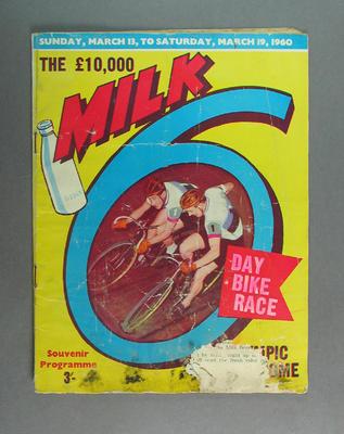 Programme, Milk 6 Day Bike Race 1960