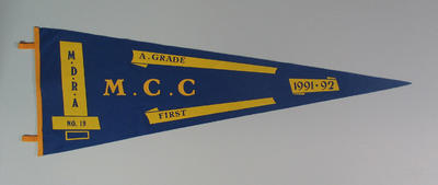 Pennant - MDRCA No.19, A Grade, First,  M.C.C. 1991-92