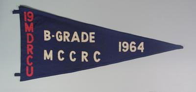 Pennant 19 MDRCU   B Grade MCCRC [MCC Rifle Club]  1964