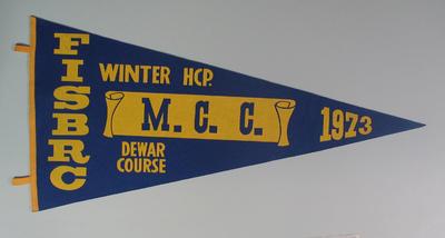 Pennant - FISBRC, Winter HCP. Dewar Course, MCC 1973