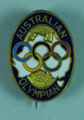 Australian Olympian badge, issued to Les Harley