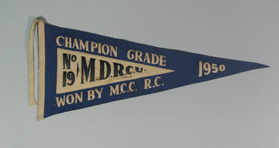 Pennant MDRA No.19 Champion Grade won by M.C.C.  R.C. 1950