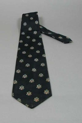 Tie, black with embroidered American crests
