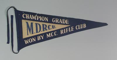 Pennant MDRCU  Champion Grade won by M.C.C. Rifle Club