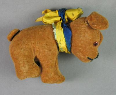 Soft toy, brown puppy dog c1936