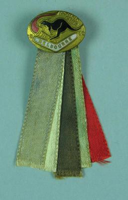 Lapel pin, 1956 Olympic Games