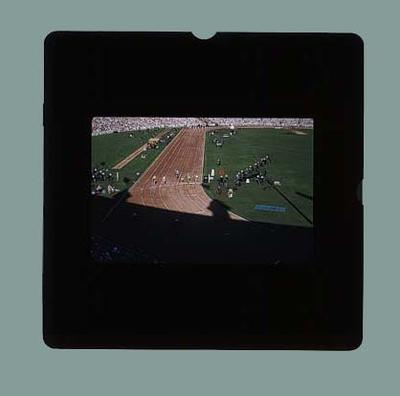 Slide, 35mm colour transparency - Women's 100 Mtr. 1956 Olympics at MCG