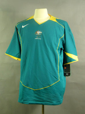 Soccer shirt, 2004 Australian Olympic Games team uniform