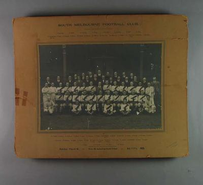 Photograph of South Melbourne Football Club, 1923; Photography; 1991.2507.3