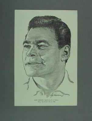 Print, depicts Ron Barassi; Artwork; M14079
