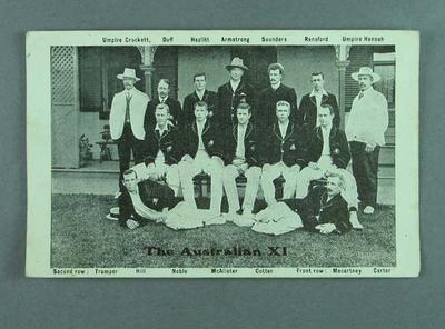 Photograph of Australian cricket team, 1907-08; Documents and books; 1985.13.12.2
