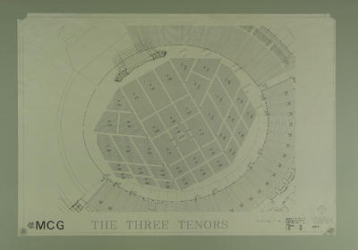 Seating plan, Three Tenors concert - Melbourne Cricket Ground, March 1997