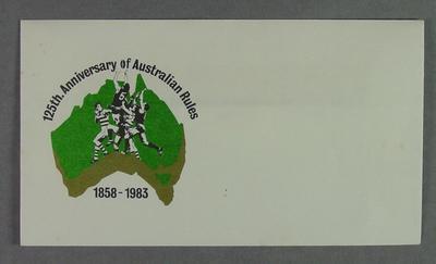 Commemorative envelope, 125th Anniversary of Australian Rules 1858-1983