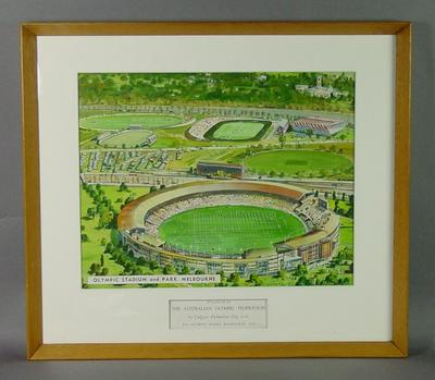 Painting, Melbourne Cricket Ground & surrounds - 1956 Olympic Games