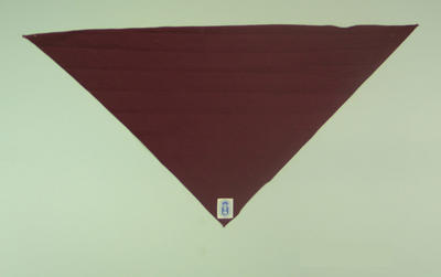 Maroon scarf, produced for 1956 Olympic Games