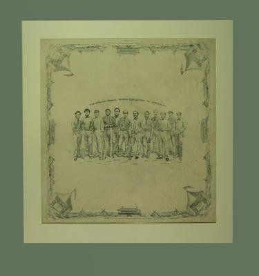 "Handkerchief, ""All England Twelve - Second Expedition to Australia"" - 1864"