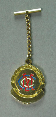 Melbourne Cricket Club Committee fob, worn by C S McCutcheon 1960-82; Trophies and awards; M14237