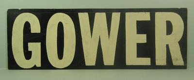 "MCG scoreboard name, ""Gower"""