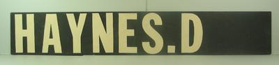 "MCG scoreboard name, ""Haynes D"""