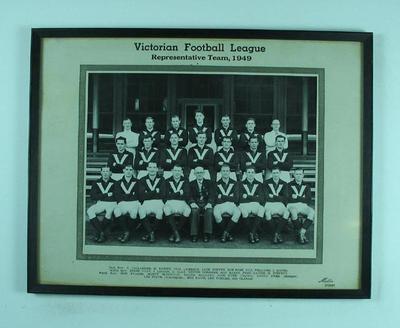 Photograph of Victorian Football League team, 1949