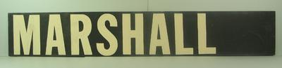 "MCG scoreboard name, ""Marshall"""