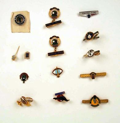 Assorted badges, associated with lawn bowls