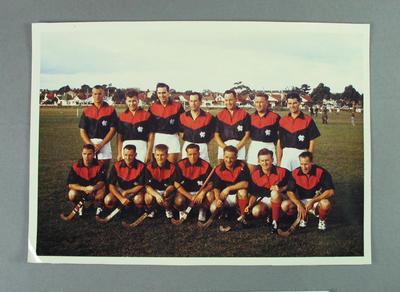 Photograph of MCC Hockey Section, inaugural 1st XI & 2nd XI teams - 15 April 1961