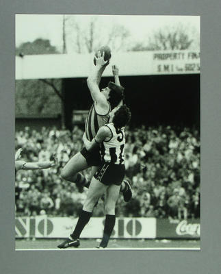 Photograph of footballers Jason Dunstall and Peter McCormack during a match, c.1985; Photography; M14092