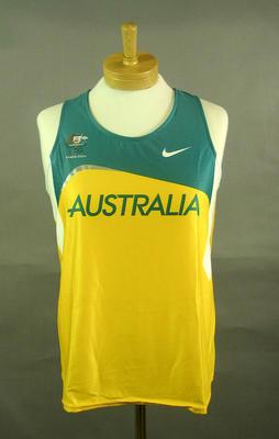Athletics singlet, 2004 Australian Olympic Games team uniform