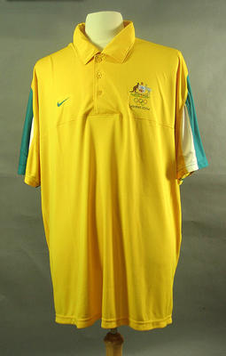 Polo shirt, 2004 Australian Olympic Games team uniform; Clothing or accessories; 2005.4230.26