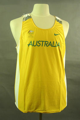 Singlet, 2004 Australian Olympic Games team uniform; Clothing or accessories; 2005.4230.28