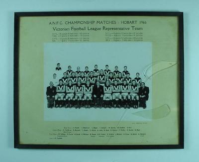 Photograph of Victorian Football League team, Hobart 1966