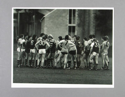 Photograph of Hawthorn footballers at training, 1980s; Photography; M14083