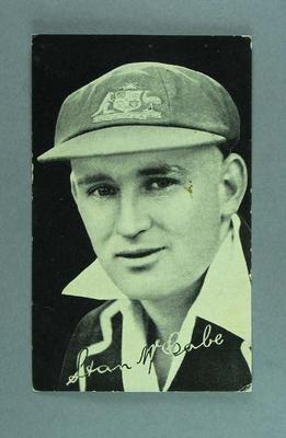 Black and white photograph of Stan McCabe, circa 1936