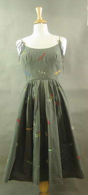 Embroidered Cocktail Dress made specifically for the 1956 Melbourne Olympic Games
