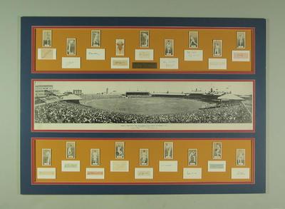 Framed montage - England v Australia 1932-33 'Bodyline'