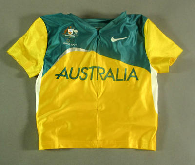Crop top, 2004 Australian Olympic Games team uniform; Clothing or accessories; 2005.4230.34